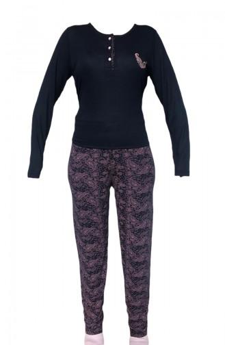 Dunkelblau Pyjama 8880
