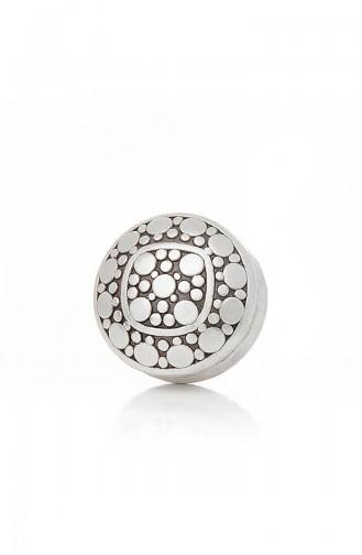 Antik Gümüş Kaplama Eşarp Mıknatısı 11-30-104-00-12