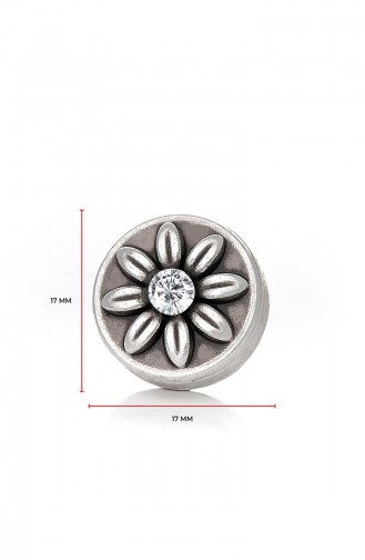 Silver Gray Shawl Scarf Needle 11-34-102-87-12