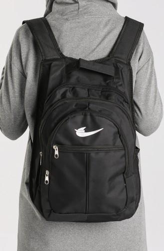 Black Backpack 10703SI
