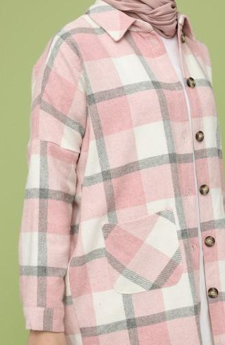 Kareli Oduncu Gömlek 1068-02 Gül Kurusu