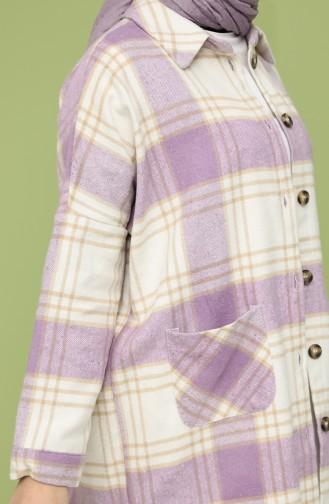 Kareli Oduncu Gömlek 1068A-01 Lila