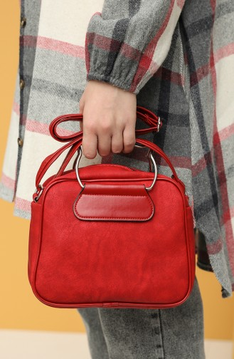 Red Shoulder Bag 10694KI
