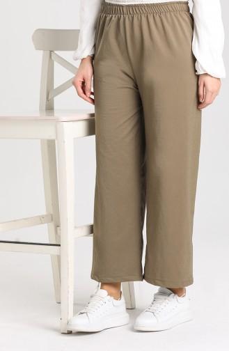 Elastic Wide Leg Pants 2000-10 Khaki 2000A-02