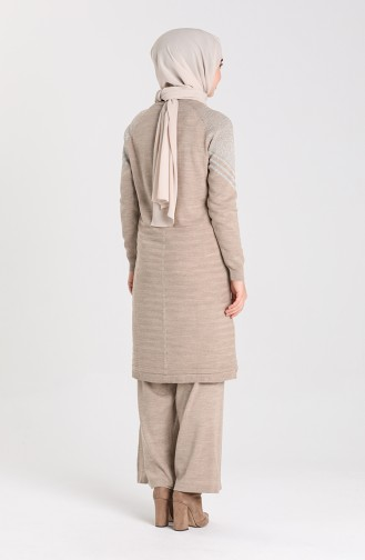 Knitwear Tunic Trousers Double Suit 12208-04 Mink 12208-04