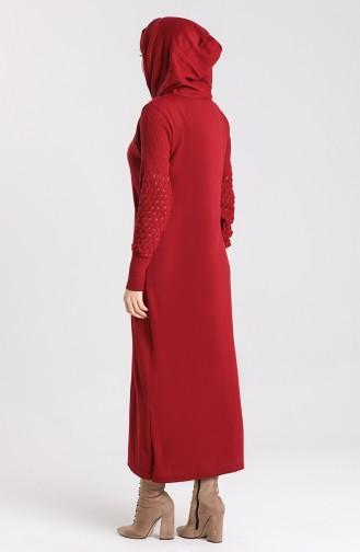 Hooded Sports Dress 2343-04 Burgundy 2343-04