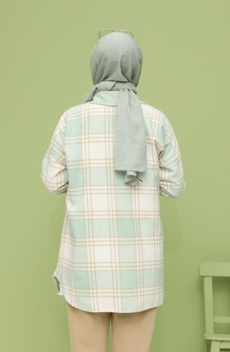 Cepli Oduncu Gömlek 5033A-02 Mint Yeşil