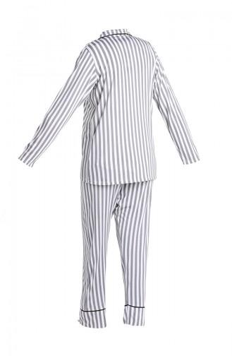 Grau Pyjama 5403-01