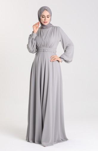 Habillé Hijab Gris 5422-03