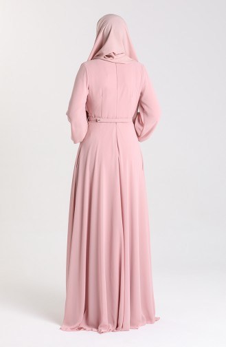 Belted Evening Dress 5422-07 Dried Rose 5422-07