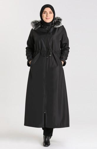 Black Lange Jas 0392-02