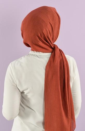 Karaca Düz Krinkıl Viskon Şal 90762-10 Tarçın Renk