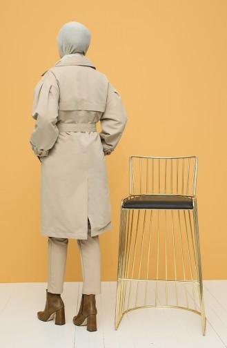 Beige Trench Coats Models 1119-01
