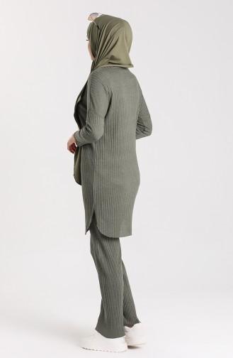 Tunic and Pants Two Piece 7732-02 Khaki 7732-02