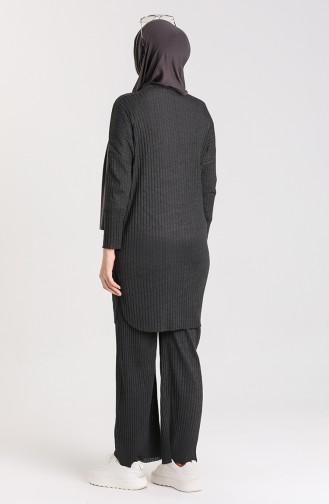Tunik Pantolon İkili Takım 7732-04 Antrasit