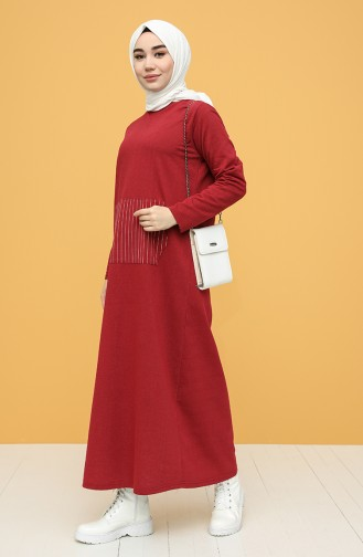 Weinrot Hijap Kleider 6000-03