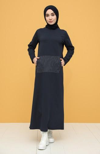 Robe Hijab Bleu Marine 6000-04