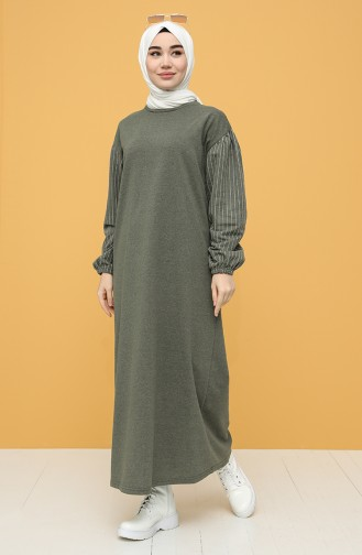 İki İplik Spor Elbise 6002-01 Haki