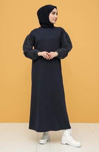 Robe Hijab Bleu Marine 6002-04