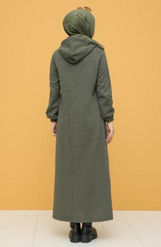 Robe Hijab Khaki 6003-01