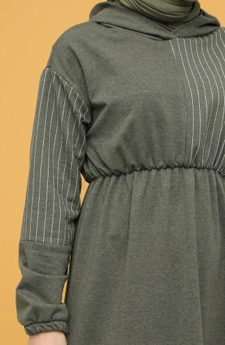 Robe Hijab Khaki 6004-01