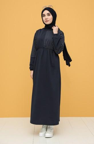 Robe Hijab Bleu Marine 6004-04