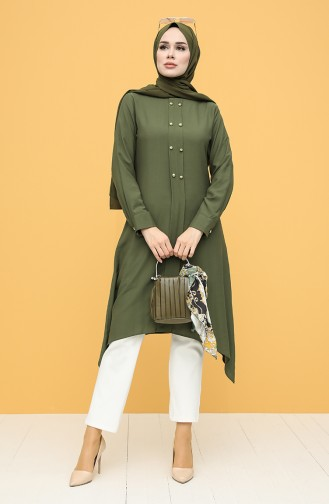 Buttoned Tunic 12150-02 Green 12150-02