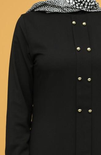 Buttoned Tunic 12150-04 Black 12150-04