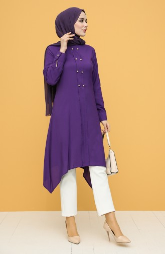 Buttoned Tunic 12150-05 Purple 12150-05