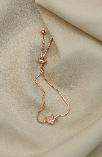 Rosa Haut Armband 0035-02