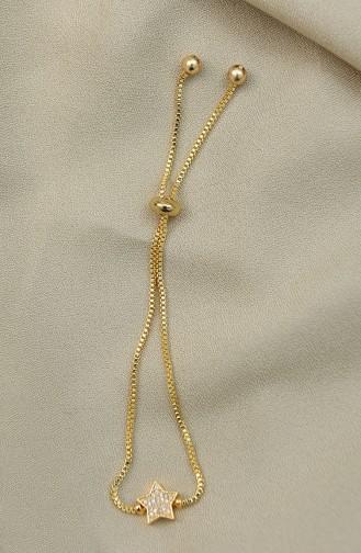 Yıldız Figürlü Zirkon Taşlı Asansör Bileklik AYD0035-03 Altın 0035-03