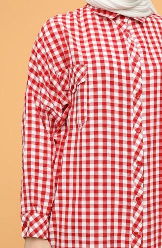 Red Overhemdblouse 1046-05