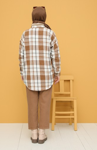 Beige Overhemdblouse 0125-03