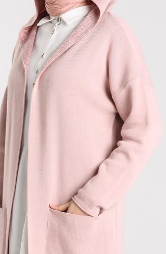 Knitwear Hooded Sweater 4241-01 Powder 4241-01