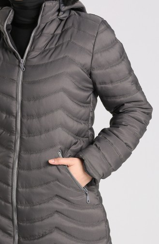 Zipper quilted Coat 1065-04 Anthracite 1065-04