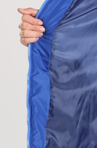 Zipper quilted Coat 1065-08 Saxe Blue 1065-08