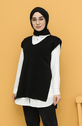 Schwarz Pullover 0123-03