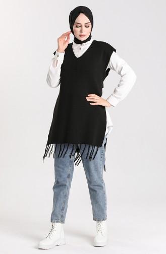 Schwarz Pullover 4354-04