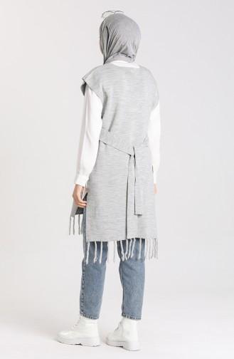 Knitwear Tassel Sweater 4354-10 Gray 4354-10