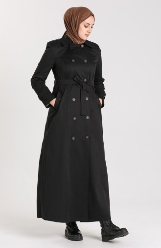Black Trench Coats Models 5752-01