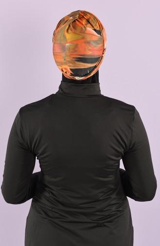 Dijital Baskı Havuz Bonesi 8006-7-01 Siyah