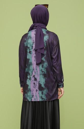 Purple Overhemdblouse 4373-02