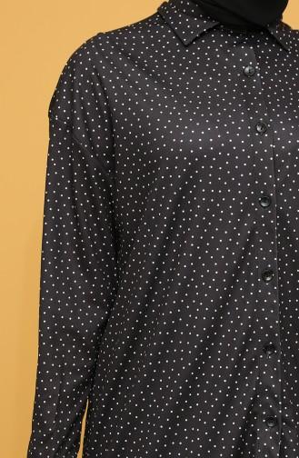 Black Overhemdblouse 4373B-01
