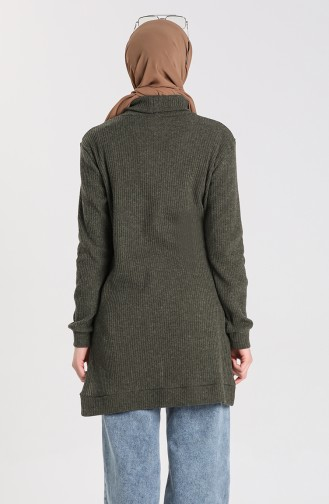 Knitwear Sweater with Pockets 7002-01 Khaki 7002-01