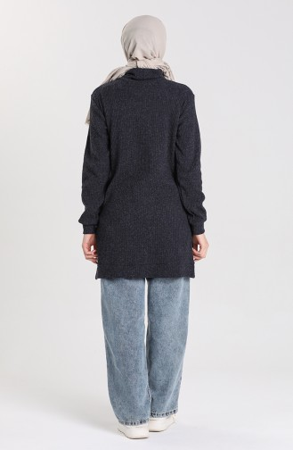 Knitwear Sweater with Pockets 7002-03 Navy Blue 7002-03