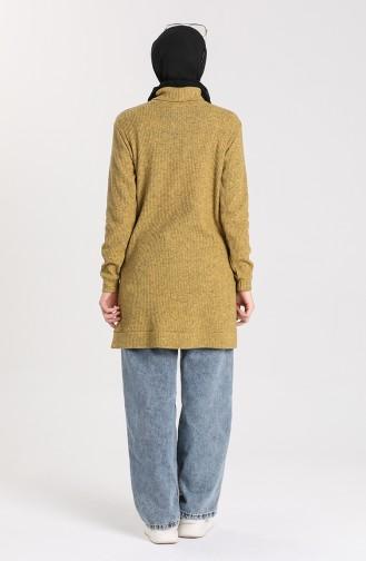 Knitwear Sweater with Pockets 7002-04 Mustard 7002-04