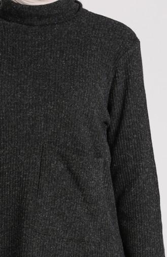 Schwarz Pullover 7002-07