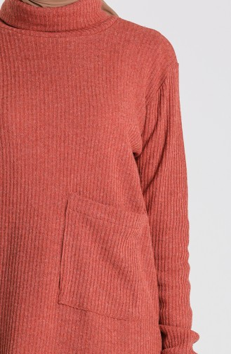 Knitwear Sweater with Pockets 7002-08 Tile 7002-08
