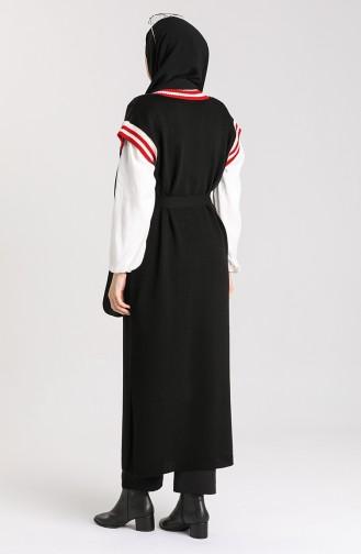 Schwarz Pullover 4365-02