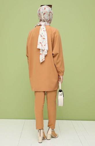 Asymmetric Tunic Trousers Double Suit 2009-04 Milk Coffee 2009-04